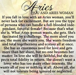 Y AND ARIES WOMAN 