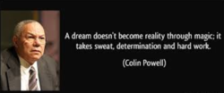 A dream doesn't become reality through magic; it 