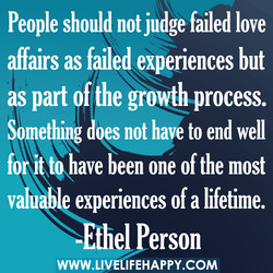 People should notjudge failed love 
