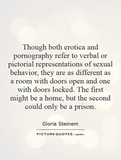 Though both erotica and 