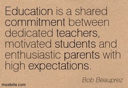 Education is a shared 