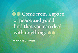 Come from a space 