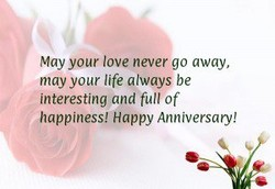 May your love never go away, 