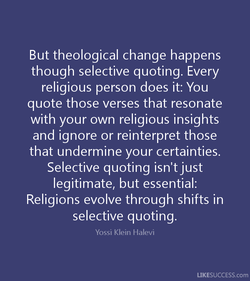 But theological change happens 