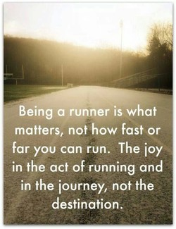Being a runner is what 