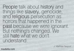 People talk about history and 