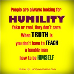 People are always looking for 