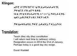 Klingon: 