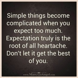 Simple things become 