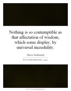 Nothing is so contemptible as 
