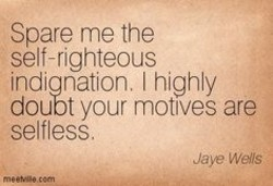 Spare me the 