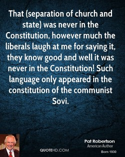 That (separation of church and 