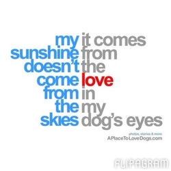 my • comes 
