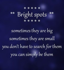 ** Bright spots 'OJ* 