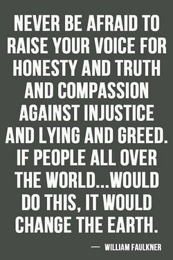 NEVER BE AFRAID TO 
