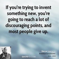 If you're trying to invent 