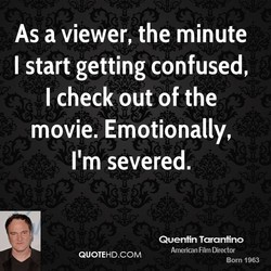 As a viewer, the minute 