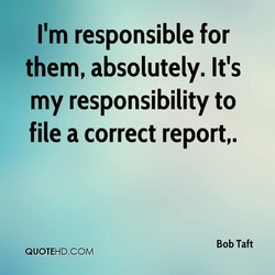 I'm responsible for 