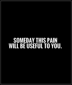 SOMEDAY THIS PAIN 