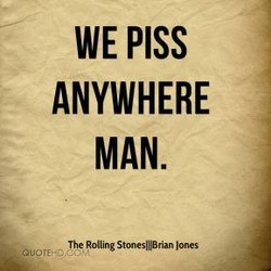 WE PISS 