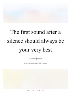The first sound after a 