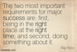 The two most important 