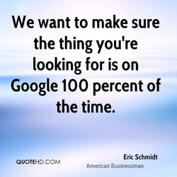 We want to make sure 