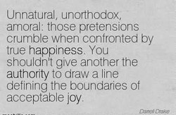 Unnatural, unorthodox, 