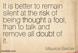 It is better to remain 