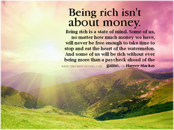 Being rich isn't 