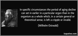 In specific circumstances the period of aging decline 