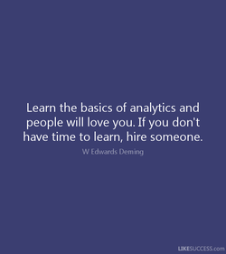 Learn the basics of analytics and 