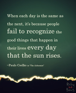 When each day is the same as 