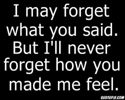 I may forget 