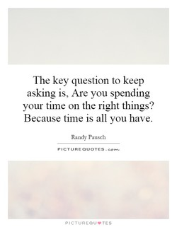 The key question to keep 