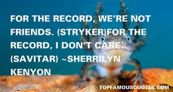 FOR THE RECORD, WE'RE NOT 
