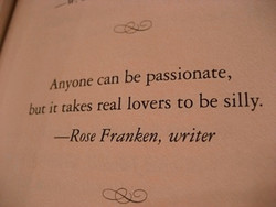 Anyone can be passionate, 