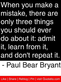 When you make a 