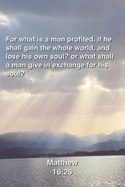 For what is a man profited, if he 