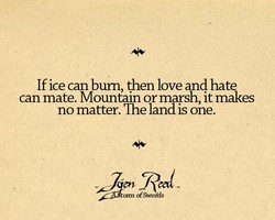 If ice can bum, then love and hate 