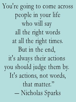 You're going to come across 