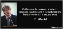 Children must be considered in a divorce 