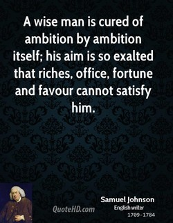 A wise man is cured of 