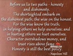us lie two paths - honesty 