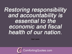 Restoring responsibility 