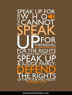 SPEAK UP FOR 