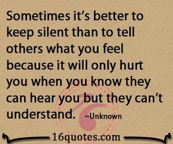 Sometimes it's better to 