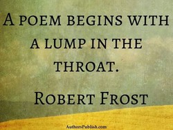 A POEM BEGINS WITH 