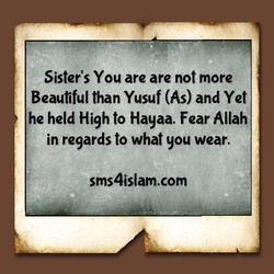Sister's You are are not more 