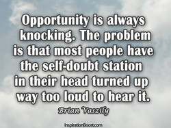 knocking. The problem 